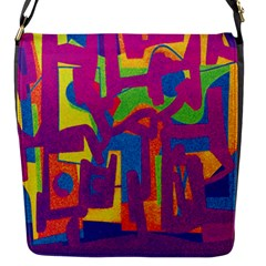 Abstract Art Flap Messenger Bag (s) by ValentinaDesign