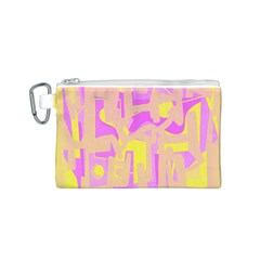 Abstract Art Canvas Cosmetic Bag (s) by ValentinaDesign