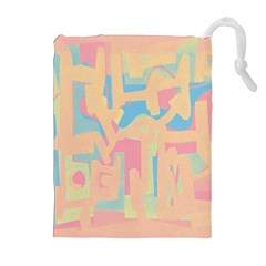Abstract Art Drawstring Pouches (extra Large) by ValentinaDesign