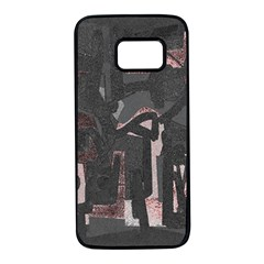 Abstract art Samsung Galaxy S7 Black Seamless Case by ValentinaDesign