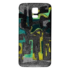 Abstract Art Samsung Galaxy S5 Back Case (white) by ValentinaDesign