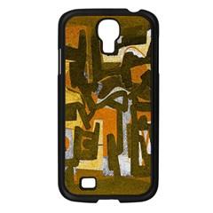 Abstract Art Samsung Galaxy S4 I9500/ I9505 Case (black) by ValentinaDesign