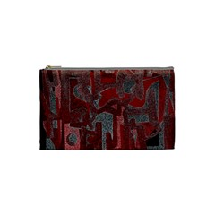 Abstract Art Cosmetic Bag (small)  by ValentinaDesign
