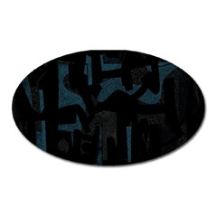 Abstract Art Oval Magnet by ValentinaDesign