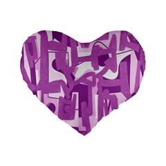 Abstract Art Standard 16  Premium Heart Shape Cushions by ValentinaDesign