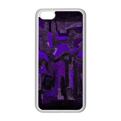 Abstract Art Apple Iphone 5c Seamless Case (white) by ValentinaDesign