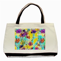 Floral Dreams 12 Basic Tote Bag (two Sides) by MoreColorsinLife
