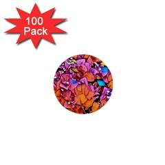 Floral Dreams 15 1  Mini Buttons (100 Pack)  by MoreColorsinLife