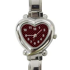 Pattern Heart Italian Charm Watch by ValentinaDesign