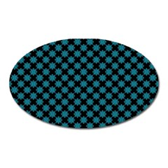 Pattern Oval Magnet by ValentinaDesign