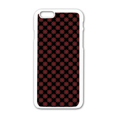 Pattern Apple Iphone 6/6s White Enamel Case by ValentinaDesign