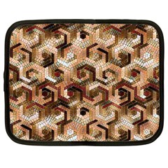 Pattern Factory 23 Brown Netbook Case (large) by MoreColorsinLife