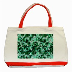 Pattern Factory 23 Teal Classic Tote Bag (Red)