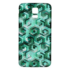 Pattern Factory 23 Teal Samsung Galaxy S5 Back Case (white) by MoreColorsinLife