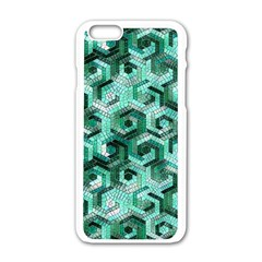 Pattern Factory 23 Teal Apple iPhone 6/6S White Enamel Case by MoreColorsinLife