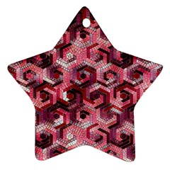 Pattern Factory 23 Red Star Ornament (Two Sides)