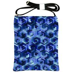 Pattern Factory 23 Blue Shoulder Sling Bags by MoreColorsinLife