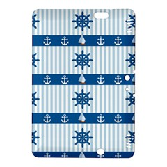 Sea Pattern Kindle Fire Hdx 8 9  Hardshell Case by Valentinaart