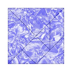 Shimmering Floral Damask,blue Acrylic Tangram Puzzle (6  X 6 ) by MoreColorsinLife