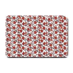 Roses Pattern Small Doormat  by Valentinaart