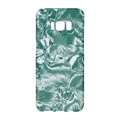 Shimmering Floral Damask, Teal Samsung Galaxy S8 Hardshell Case  by MoreColorsinLife