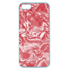 Shimmering Floral Damask Pink Apple Seamless Iphone 5 Case (color) by MoreColorsinLife