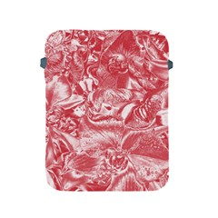 Shimmering Floral Damask Pink Apple Ipad 2/3/4 Protective Soft Cases by MoreColorsinLife