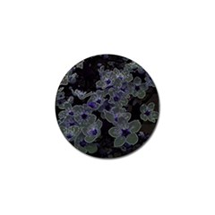 Glowing Flowers In The Dark B Golf Ball Marker (4 Pack) by MoreColorsinLife