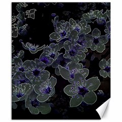 Glowing Flowers In The Dark B Canvas 8  x 10  by MoreColorsinLife