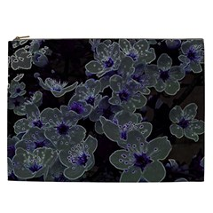 Glowing Flowers In The Dark B Cosmetic Bag (xxl)  by MoreColorsinLife