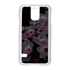 Glowing Flowers In The Dark A Samsung Galaxy S5 Case (white) by MoreColorsinLife