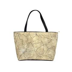 Cracked Skull Bone Surface B Shoulder Handbags by MoreColorsinLife