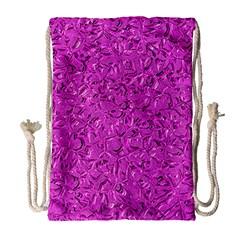 Sparkling Metal Art D Drawstring Bag (large) by MoreColorsinLife