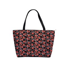 Roses Pattern Shoulder Handbags by Valentinaart