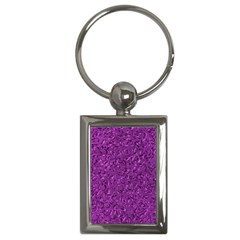 Sparkling Metal Art F Key Chains (rectangle)  by MoreColorsinLife