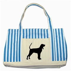 Black And Tan Coonhound Silo Black Striped Blue Tote Bag