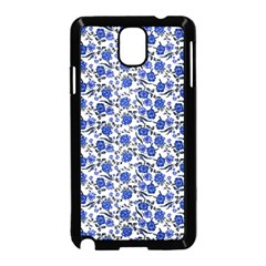 Roses Pattern Samsung Galaxy Note 3 Neo Hardshell Case (black) by Valentinaart