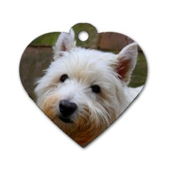 West Highland White Terrier Dog Tag Heart (Two Sides)