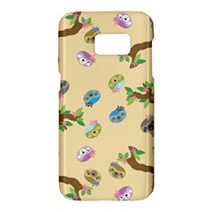 Sloth Tan Bg Samsung Galaxy S7 Hardshell Case  by TailWags