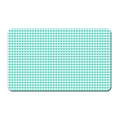 Tiffany Aqua Blue Candy Hearts on White Magnet (Rectangular) by PodArtist