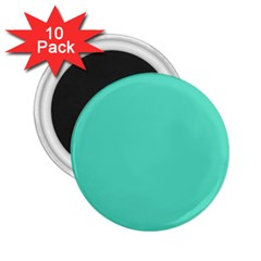 Classic Tiffany Aqua Blue Solid Color 2.25  Magnets (10 pack)  by PodArtist