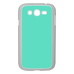Classic Tiffany Aqua Blue Solid Color Samsung Galaxy Grand Duos I9082 Case (white) by PodArtist