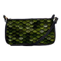 Green Scales Shoulder Clutch Bags by TailWags