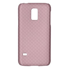 Baby Pink Stitched and Quilted Pattern Galaxy S5 Mini by PodArtist