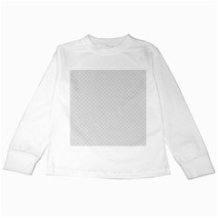 Bright White Stitched and Quilted Pattern Kids Long Sleeve T-Shirts by PodArtist