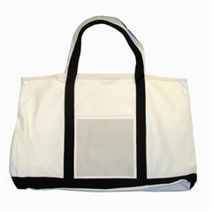 Bright White Stitched and Quilted Pattern Two Tone Tote Bag by PodArtist