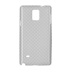 Bright White Stitched and Quilted Pattern Samsung Galaxy Note 4 Hardshell Case by PodArtist