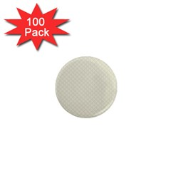 Rich Cream Stitched and Quilted Pattern 1  Mini Magnets (100 pack)
