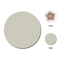 Rich Cream Stitched and Quilted Pattern Playing Cards (Round)  by PodArtist