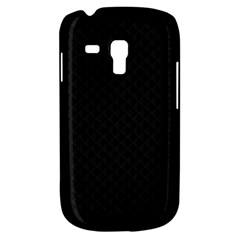 Sleek Black Stitched and Quilted Pattern Galaxy S3 Mini by PodArtist